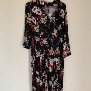 3/4 sleeve maxi dress (short length)